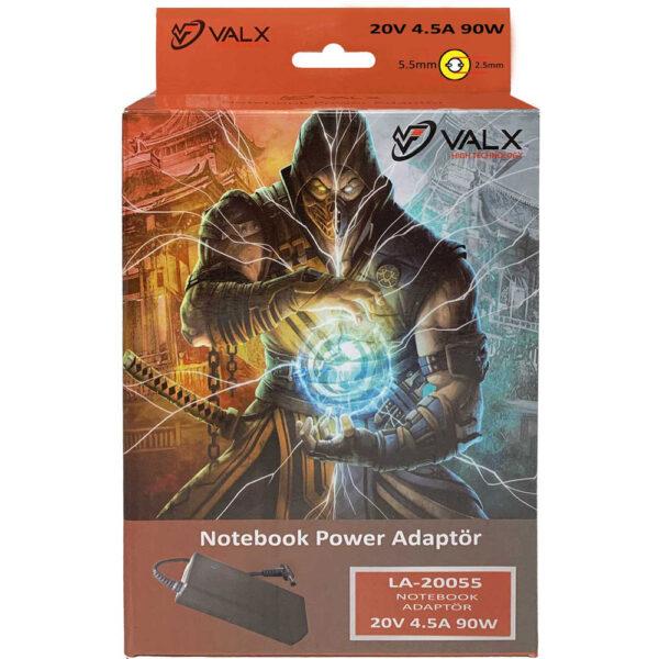 Valx-LA-20055-20V-90W-5.5x2.5-Notebook-Adaptör alkayaelektronik.com